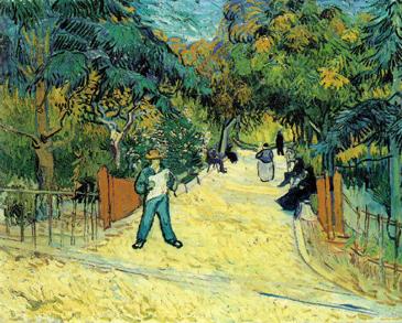 van Gogh Entrada al jardin publico en Arles (1888).jpg